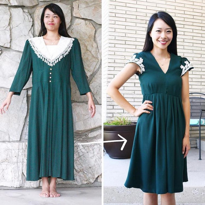 Как сшить платье из старого платья 38
