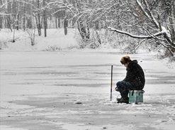 Рыбалка зимой на неглубоких водоемах