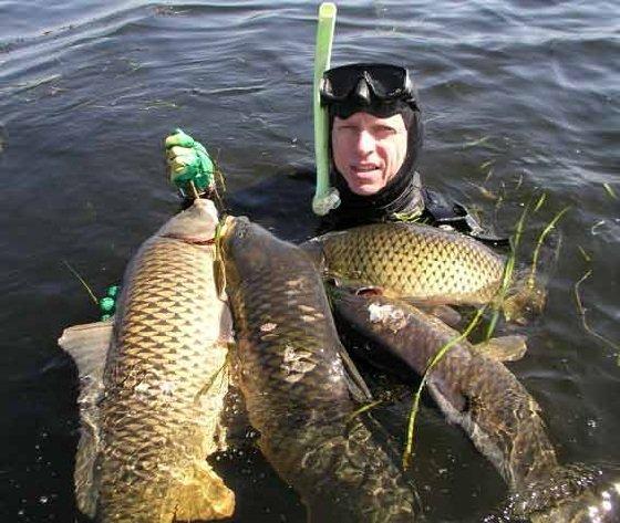 Подводная рыбалка на озере особенности и нюансы