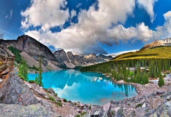Самые красивые озера мира фото Озеро Морейн, Канада