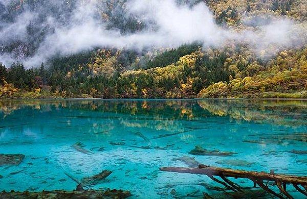 Самые красивые озера мира Озеро Пять цветов, Китай