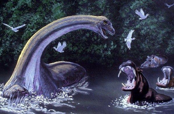Выживший динозавр Мокеле-мбембе