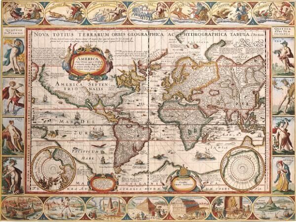Древние географические карты мира очень точные