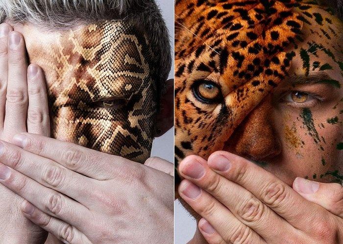 Гибриды человека и диких животных: фотопроект в защиту хищников в неволе