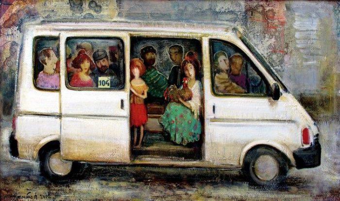 Ностальгия по прекрасному: душевные картины о жизни от грузинского художника Ладо Тевдoрадзе
