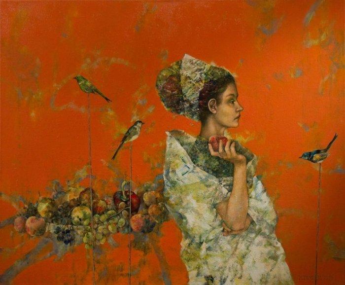 Оставаясь наедине с собой: гармония и меланхолия в картинах Халины Теймуз