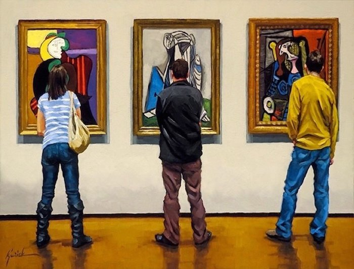 Зрители в картинной галерее: проект о тех, кто ходит на выставки