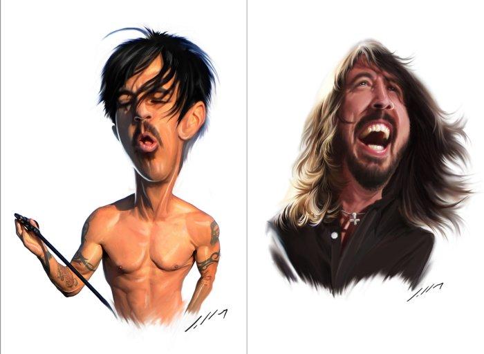 В новом свете: карикатурные портреты героев комиксов и не только