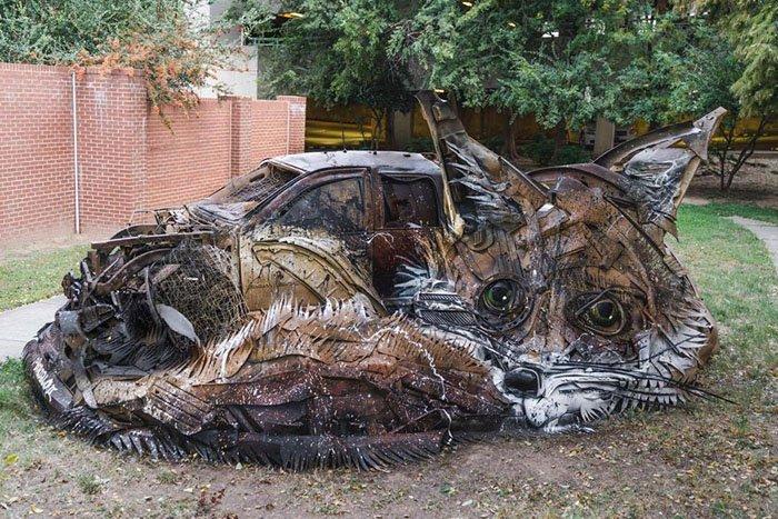 Bordalo II: Как превратить мусор в произведение искусства