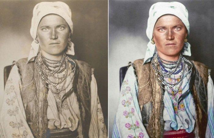16 колорированных ретро портретов эмигрантов, которые стремились Америку в начале XX века