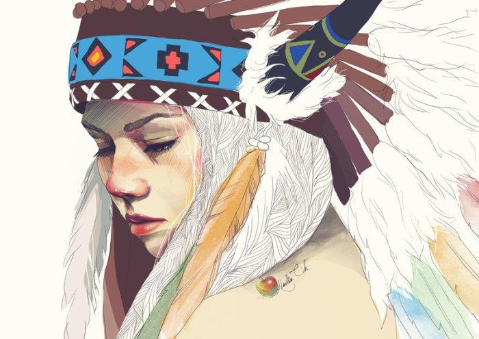 Цифровая живопись: эмоционально-поэтические портреты очаровательных девушек и девочек