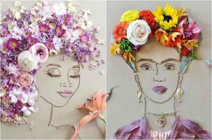 Флористические портреты творческого семейного дуэта