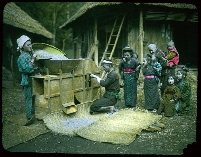 27 цветных ретро фотографий о жизни японцев в начале прошлого века