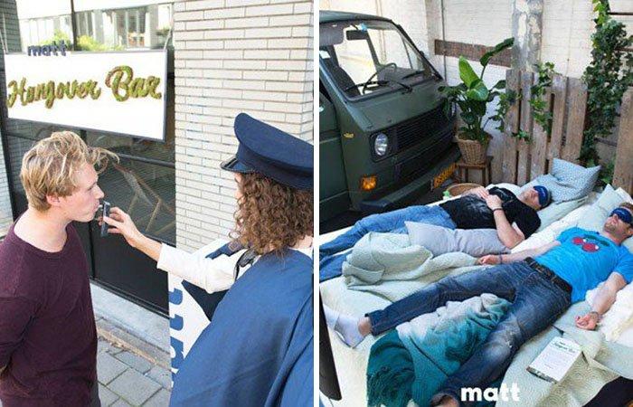 Бар «Похмелье» в Амстердаме: вход только после пьянки