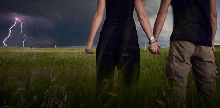 За минуту до катастрофы: отчаянная съемка фотографий на фоне приближающегося шторма