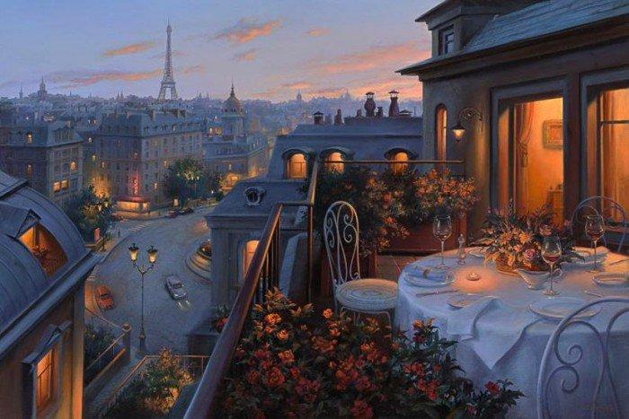 Праздник души и сердца: атмосферные городские пейзажи Евгения Лушпина